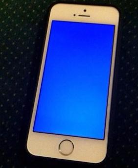 iPhoneブルースクリーンになった
