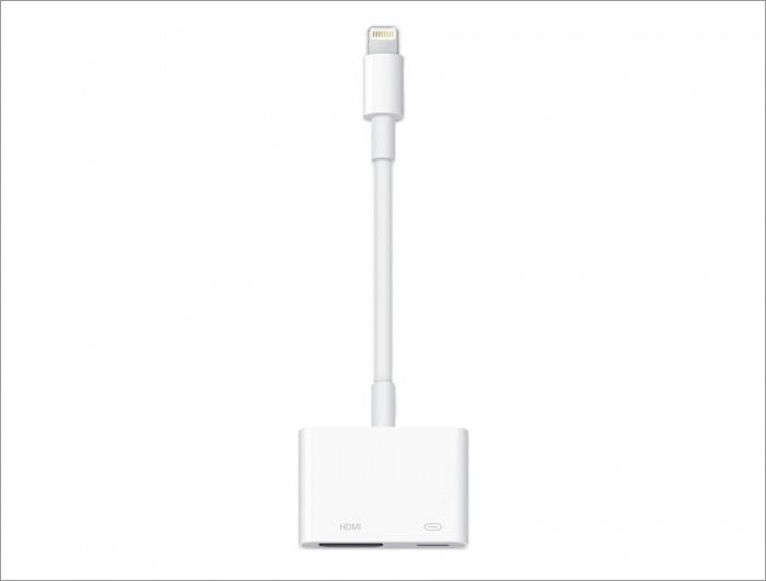 iPhone用HDMI変換アダプタ