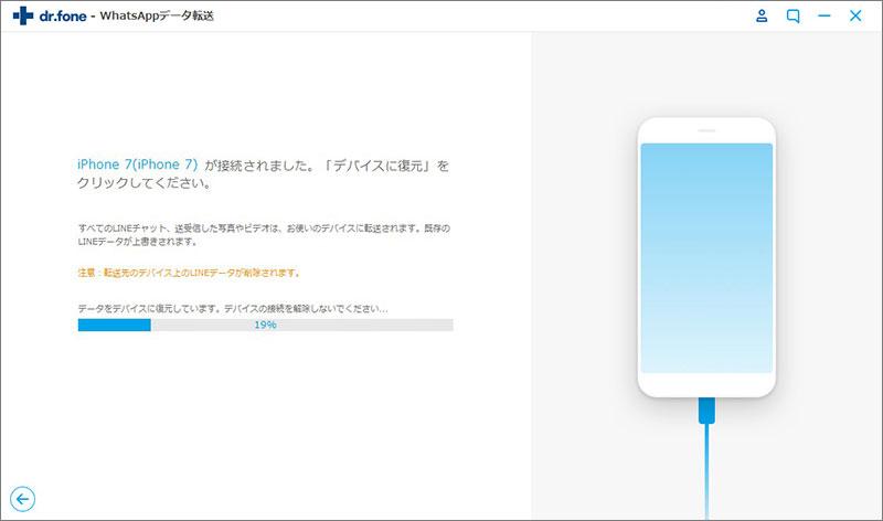 iOSデバイスに復元