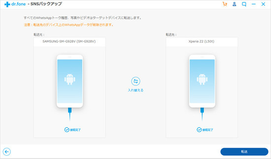 androidからandroidに