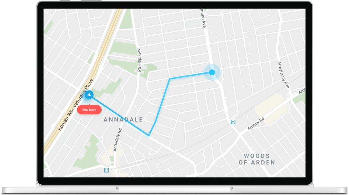 simulate movement by changing gps